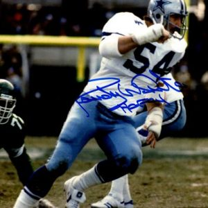 "Randy White Autographed Dallas Cowboys 8x10 Photo w/ ""HOF 1994"""