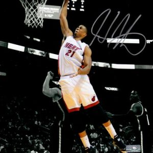 Hassan Whiteside Autographed Miami Heat (Spotlight) 8x10 Photo