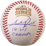"Addison Russell Autographed 2016 World Series Logo MLB Baseball w/ ""16 WS Champs"" – Chicago Cubs – JSA"