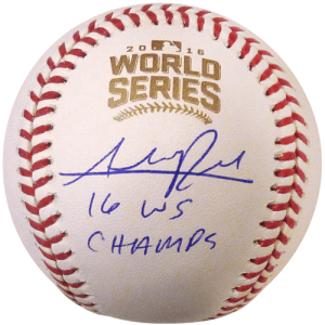 "Addison Russell Autographed 2016 World Series Logo MLB Baseball w/ ""16 WS Champs"" - Chicago Cubs - JSA"