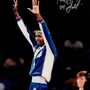 "Mark Breland Autographed USA Olympic Boxing 8x10 Photo w/ ""84 Gold"""
