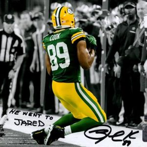 """Jared Cook Autographed Green Bay Packers (Sideline Catch Spotlight) 8x10 Photo w/ """"He Went To Jared"""""""