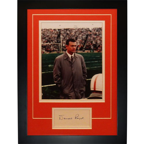"Darrell Royal Autographed Texas Longhorns (Coaching) ""Signature Series"" Frame"
