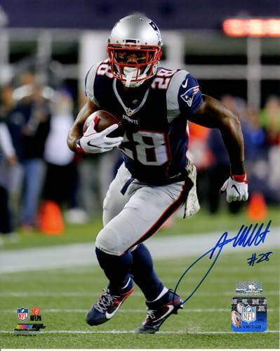 James White Autographed New England Patriots (Action) 8x10 Photo