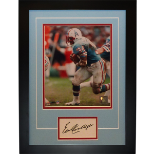 "Earl Campbell Autographed Houston Oilers ""Signature Series"" Frame"