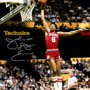 "Julius ""Dr. J"" Erving Autographed Philadelphia 76ers 8x10 Photo"