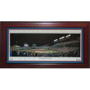 Chicago Cubs (2016 World Series with Facimile Signatures) Deluxe Framed Panoramic Photo