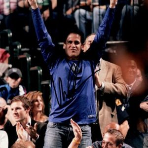 Mark Cuban Autographed Dallas Mavericks (Celebrating) 8x10 Photo