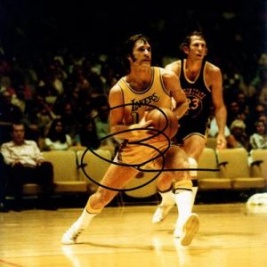 Pat Riley Autographed Los Angeles Lakers (Playing) 8x10 Photo