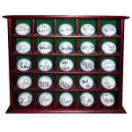 25 LPGA Tour Players Autographed Golf Balls in Display Cabinet