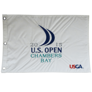 2015 U.S. Open (Chambers Bay White) Embroidered Golf Pin Flag - Jordan Spieth Champion