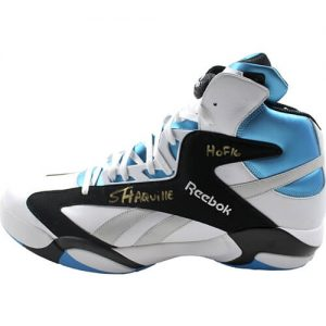 """Shaquille O'Neal Autographed Reebok """"Shaq Attaq"""" Size 22 Shoe w/ full """"Shaquille"""" and """"HOF 16"""" - Steiner"""
