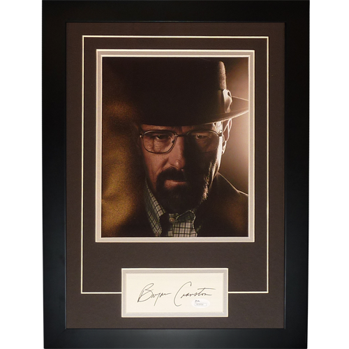 "Bryan Cranston Autographed Breaking Bad (Walter White) ""Signature Series"" Frame - JSA"