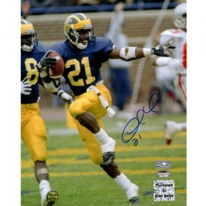 Desmond Howard Autographed Michigan Wolverines 8x10 Photo - Howard Holo