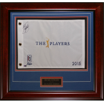 Rickie Fowler Autographed 2015 TPC The Players Championship Deluxe Framed Golf Pin Flag with Engraving