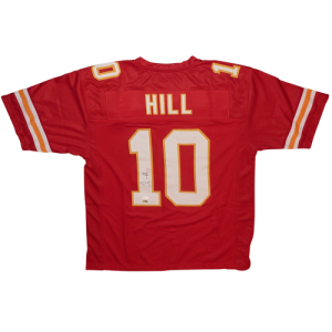Tyreek Hill Autographed Kansas City Chiefs (Red #10) Jersey - JSA
