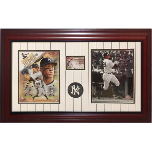 Aaron Judge Autographed New York Yankees Rookie Card Deluxe Framed Piece
