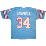 Earl Campbell Autographed Houston Oilers (Blue #34) Custom Jersey