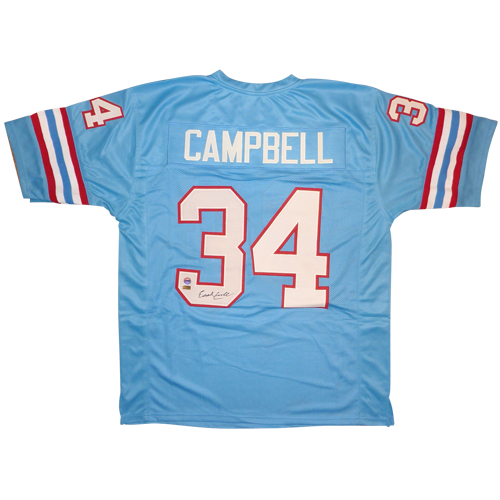 Earl Campbell Autographed Houston Oilers (Blue  34) Custom Jersey d4fed4edb