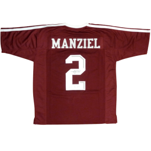 Johnny Manziel Autographed Texas A&M Aggies (Maroon #2) Jersey - JSA