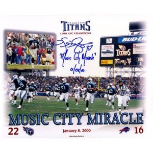 "Kevin Dyson Autographed Tennessee Titans (Music City Miracle Collage) 8x10 Photo w/ ""Music City Miracle 01-08-00"""