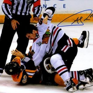 Andrew Shaw Autographed Chicago Blackhawks (Stanley Cup Fight) 8x10 Photo