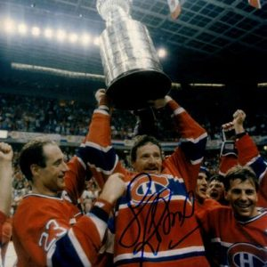 Larry Robinson Autographed Montreal Canadiens (Stanley Cup Trophy) 8x10 Photo