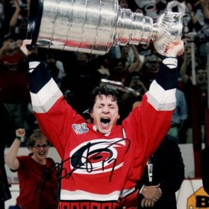 Rod Brind'amour Autographed Carolina Hurricanes (Stanley Cup Trophy) 8x10 Photo