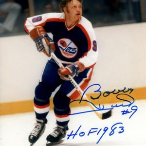 "Bobby Hull Autographed Winnipeg Jets 8x10 Photo w/ ""HOF 1983"""