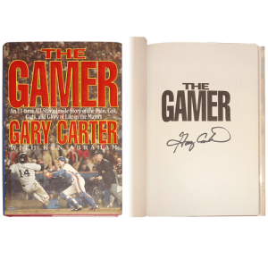 "Gary Carter Autographed Book ""The Gamer"""