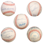 500 Home Run Club Autographed OAL Baseball – 9 Signatures , Ted Williams – Full JSA Letter
