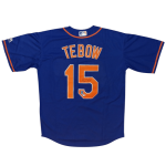 Tim Tebow Autographed New York Mets (Blue #15) Majestic Jersey – Tebow Holo