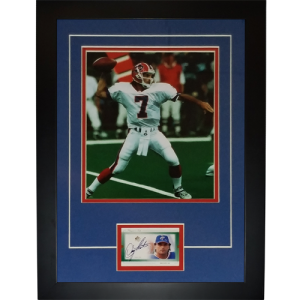 "Doug Flutie Autographed Buffalo Bills ""Signature Series"" Card Frame"