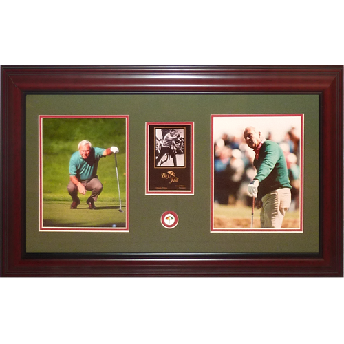 Arnold Palmer Autographed Golf (Bay Hill Scorecard) Deluxe Framed Tribute Piece