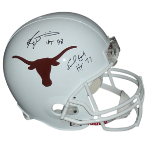 "Earl Campbell And Ricky Williams Autographed Texas Longhorns Deluxe Full-Size Replica Helmet w/ ""HT 77"", ""HT 98"" - JSA"
