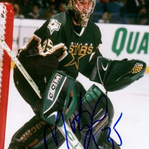 Marty Turco Autographed Dallas Stars 8x10 Photo