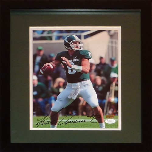 Kirk Cousins Autographed Michigan State Spartans Deluxe Framed 8×10 Photo