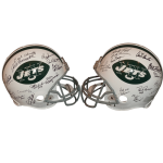 1969 New York Jets Super Bowl Team Autographed Jets (Throwback) Authentic Proline Helmet – 25 Signatures – Joe Namath – Steiner