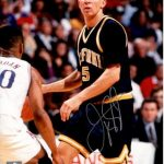 Jason Kidd Autographed Cal California Bears 8×10 Photo – Steiner