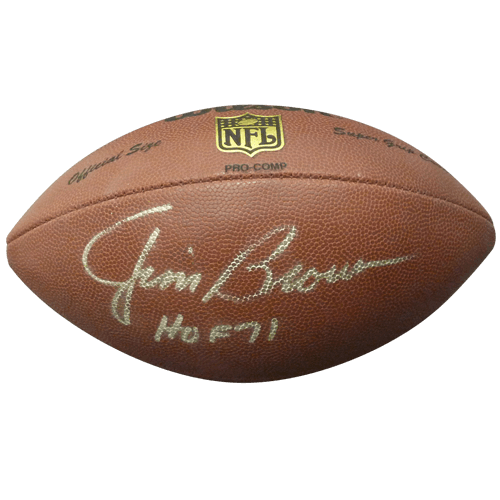 "96347b307 Jim Brown Autographed NFL Replica Football w  ""HOF 71"" – Cleveland Browns –  JSA"