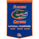 Florida Gators Football Championship Dynasty Banner – with hanging rod