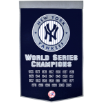 New York Yankees World Series Championship Dynasty Banner – with hanging rod