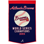 Atlanta Braves World Series Championship Dynasty Banner – with hanging rod