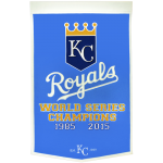 Kansas City Royals World Series Championship Dynasty Banner – with hanging rod