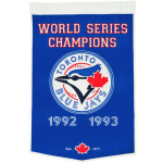 Toronto Blue Jays World Series Championship Dynasty Banner – with hanging rod