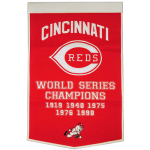 Cincinnati Reds World Series Championship Dynasty Banner – with hanging rod