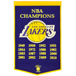 Los Angeles Lakers NBA Finals Championship Dynasty Banner – with hanging rod