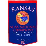 Kansas Jayhawks Basketball Championship Dynasty Banner – with hanging rod