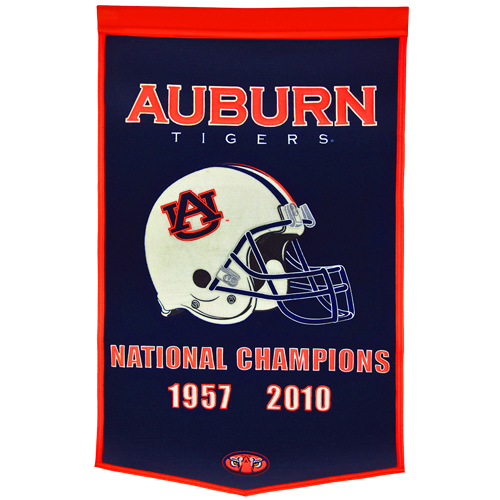Auburn Tigers Football Championship Dynasty Banner – with hanging rod