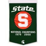 Michigan State Spartans Basketball Championship Dynasty Banner – with hanging rod